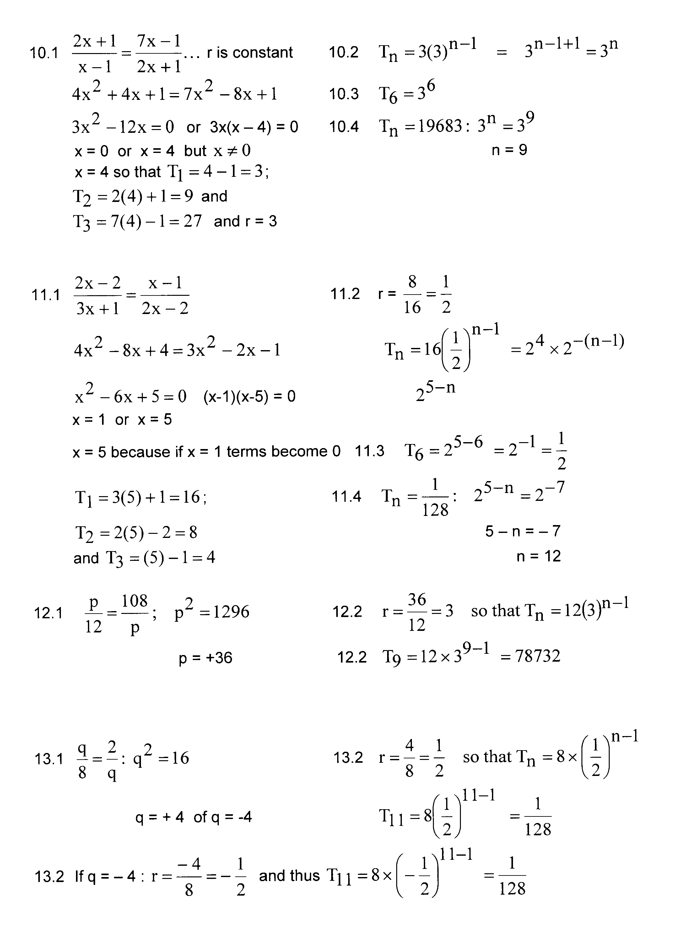 math worksheet : sequence and series problems and solutions grade 12  exponential  : Grade 12 Math Worksheets
